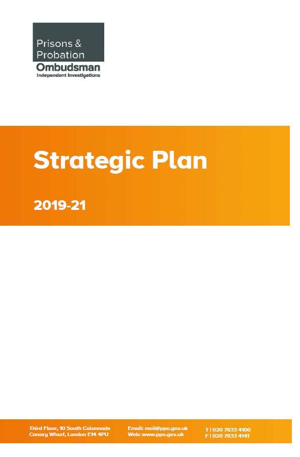 Prisons and Probation Ombudsman, Strategic Plan