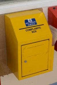 Photo of a complaints box