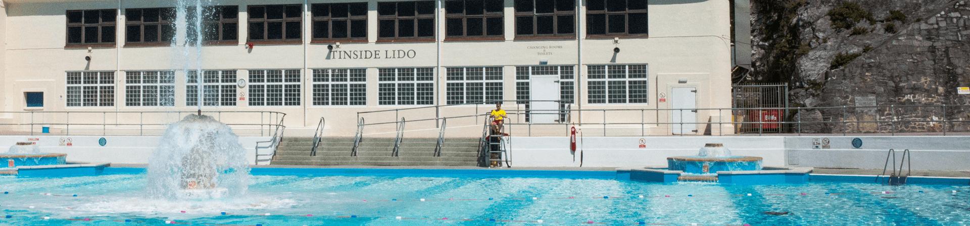 Naked at pool