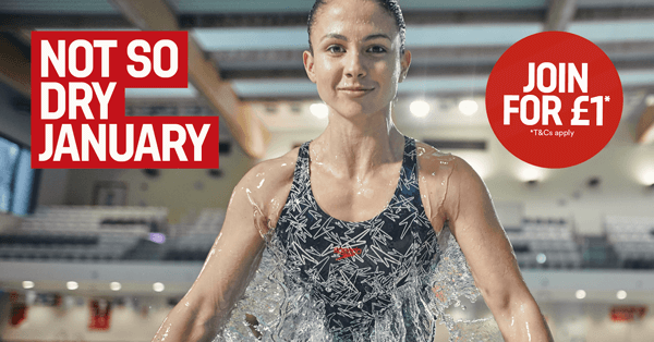 Not so dry January - swimmer in the pool - join for £1