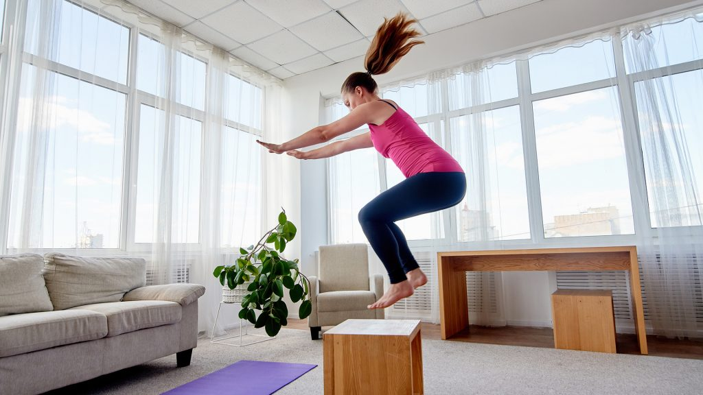 squat jump home leg exercises