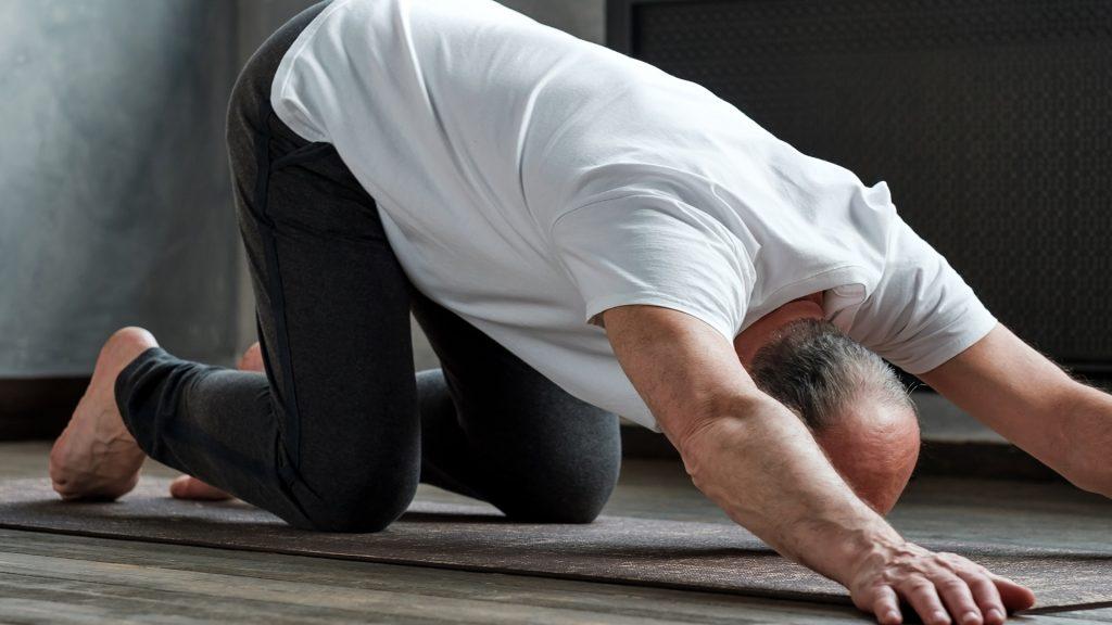 extended puppy yoga flexibility
