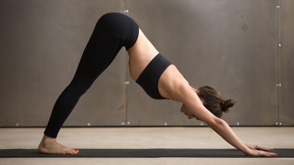 downward dog home yoga flexibility