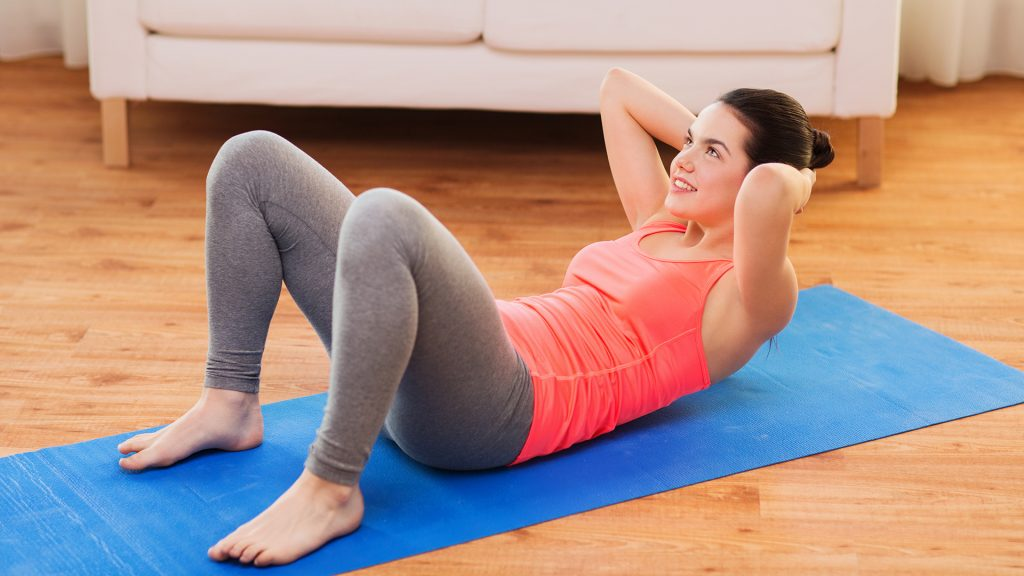 stomach crunch home abs workout