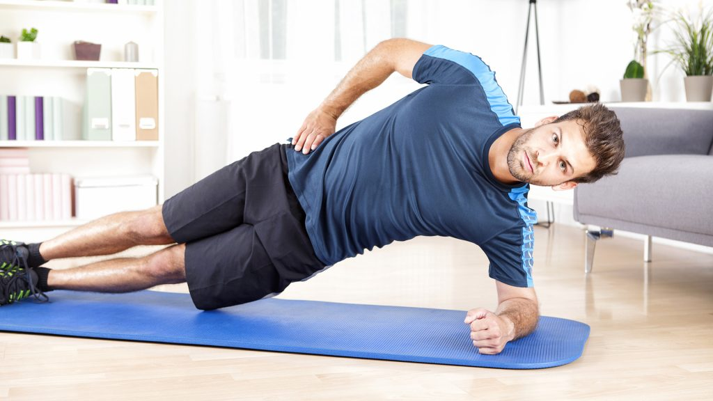 side plank home abs workout