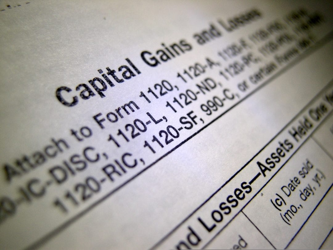 IRS Capital Gains Tax Rate