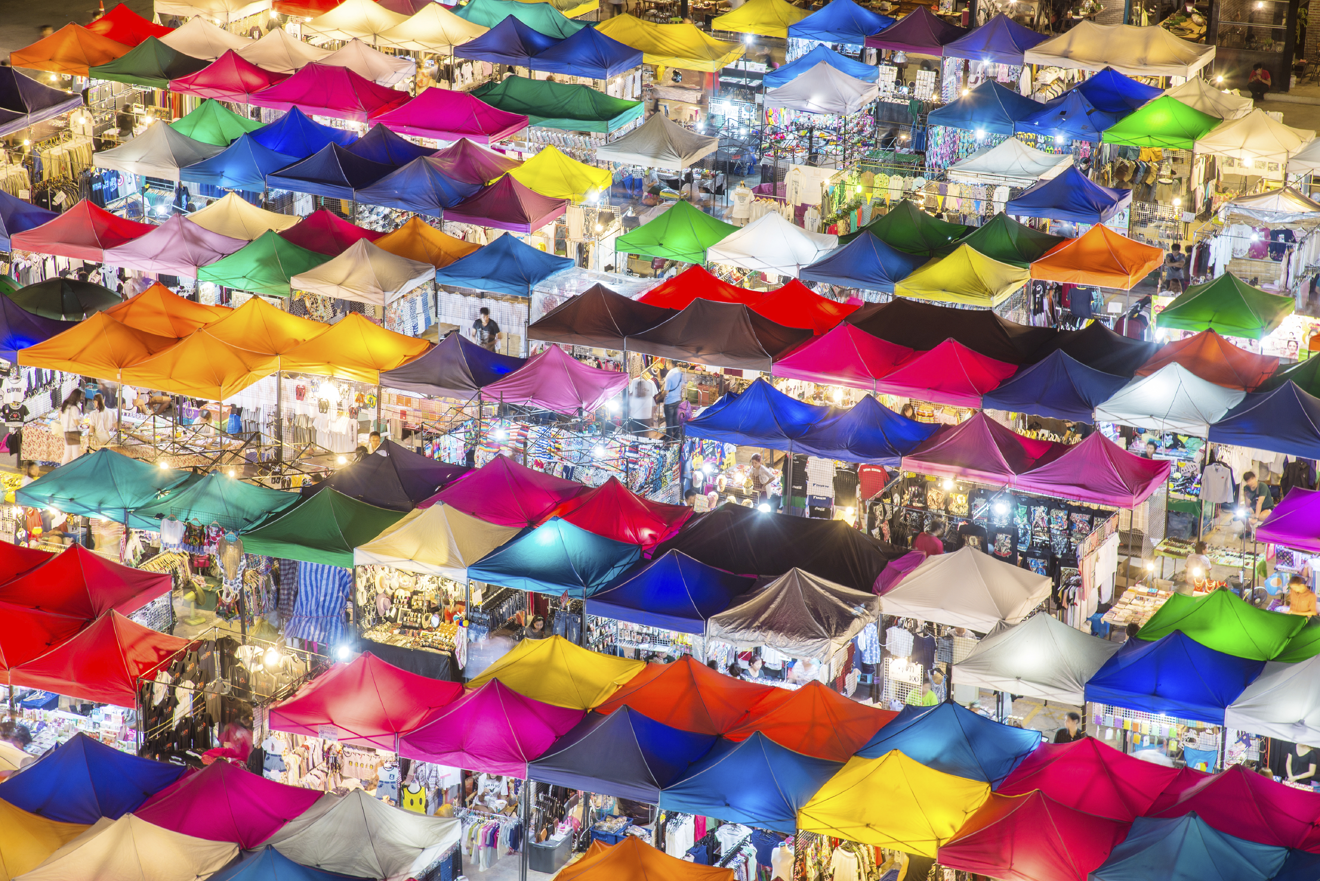 A look at a night market you can find in Hong Kong, one of the company's latest territories