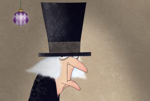 Christmas spirit Scrooge