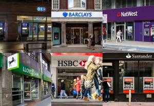 Bank branches close around the UK