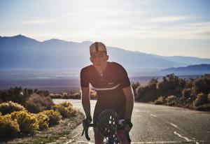 Cyclist in Rapha