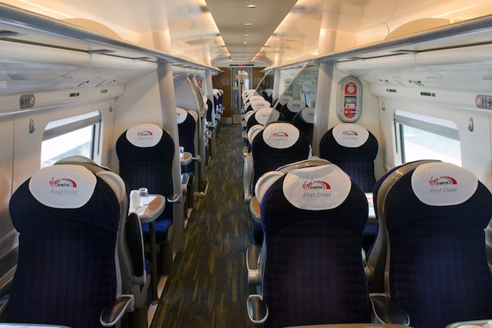 Virgin Trains Pendolino First Class Seating Manchester
