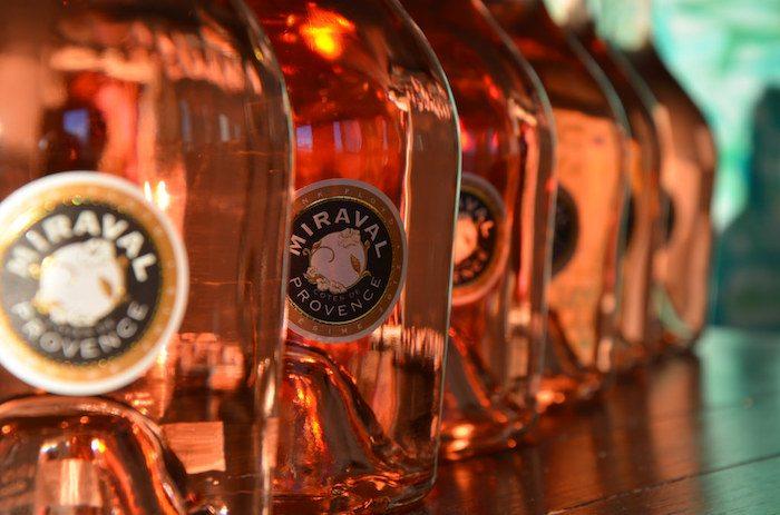 Celebrity alcohol brands Miraval rose wine