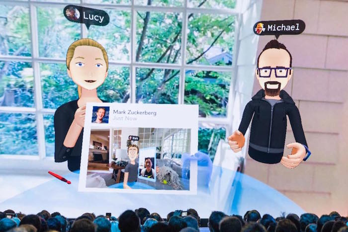 Mark Zuckerberg virtual reality Facebook users Facebook Spaces