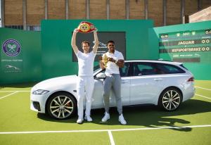 Andy Murray Wimbledon 2017 Jaguar XF Sportbrake