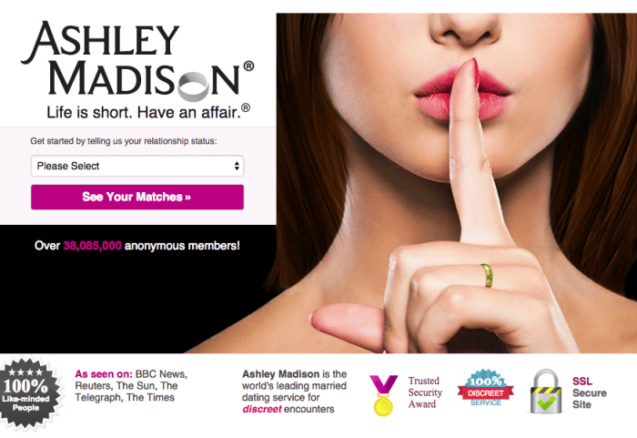 Ashley Madison old branding