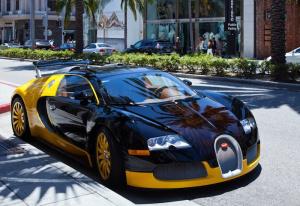 Luxury car Bugatti Veyron
