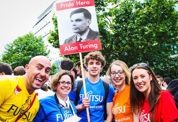 Fujitsu representatives at Pride Diversity and Inclusion