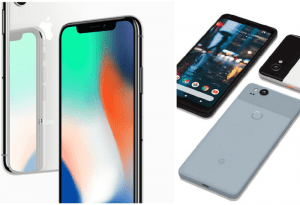 Apple iPhone versus Google Pixel 2 iPhone 8 iPhone X