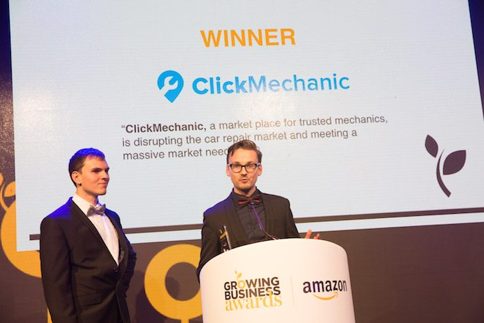 ClickMechanic GBA winner Young Company of the Year
