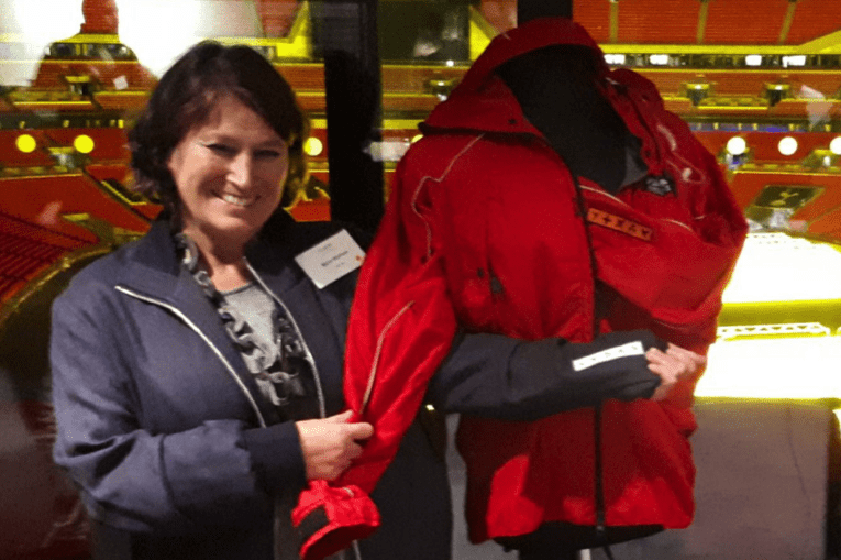 Myra Waiman reveals the Search and Rescue jacket.