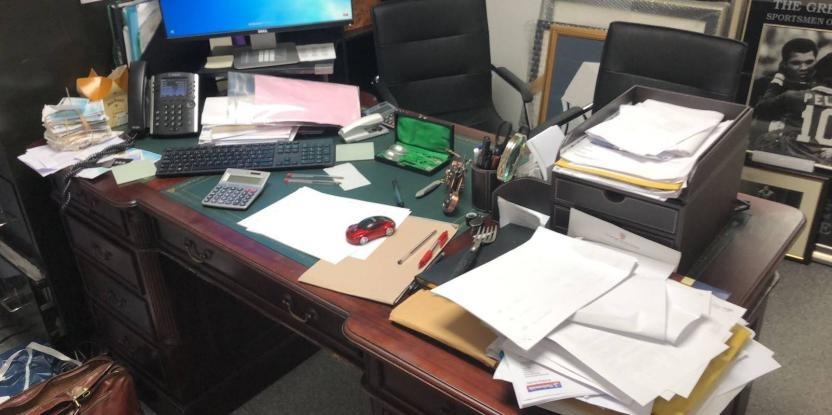 Here's what Posh Pawn star James Constantinou's work desk looks like