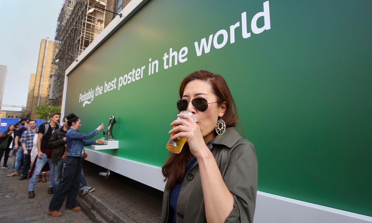 Carlsberg's beer poster was an experiential marketing in 2015