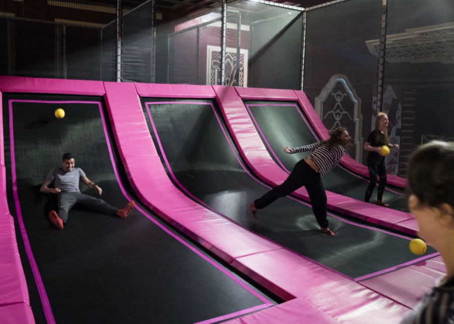 Go trampolining for your next team building event
