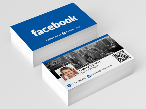 Check out the Facebook social media business card