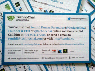 The Twitter example of a social media business card