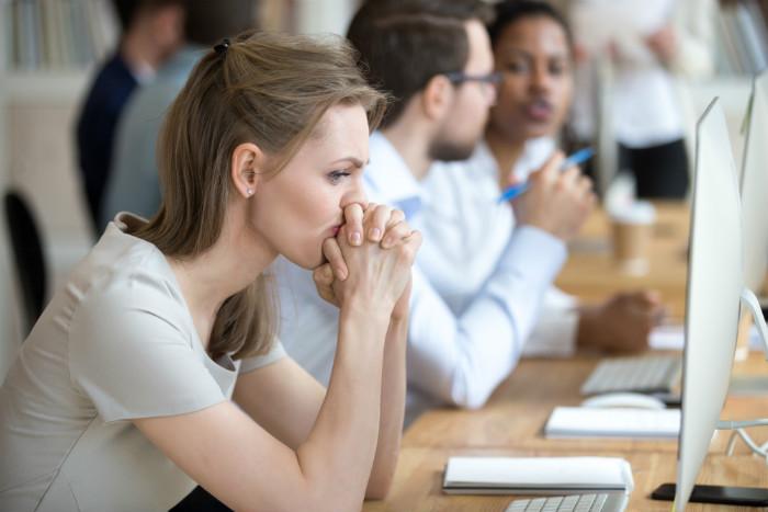 Women stressed at work