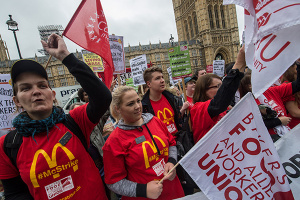 Mcdonalds work strike