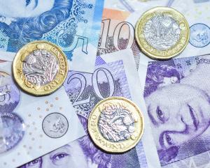 British money - £20, £10, £5 notes & Pound coins