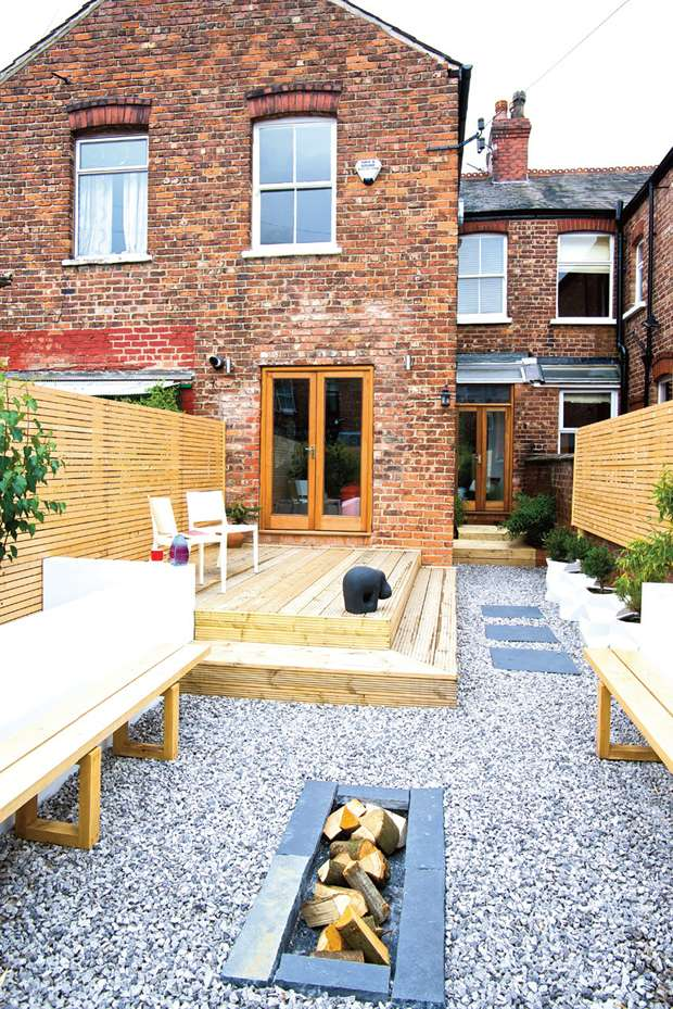 Remodelled garden to terraced house