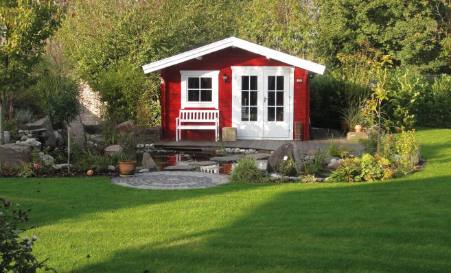 Garden affairs rugersbergh log cabin garden room
