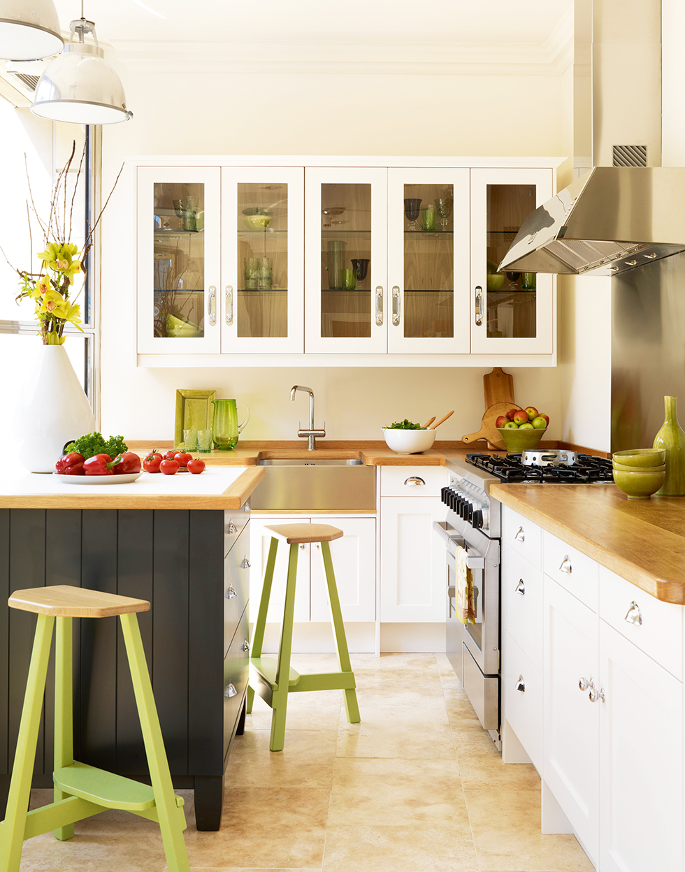 Big ideas for small kitchens real homes for Kitchen lighting ideas john lewis