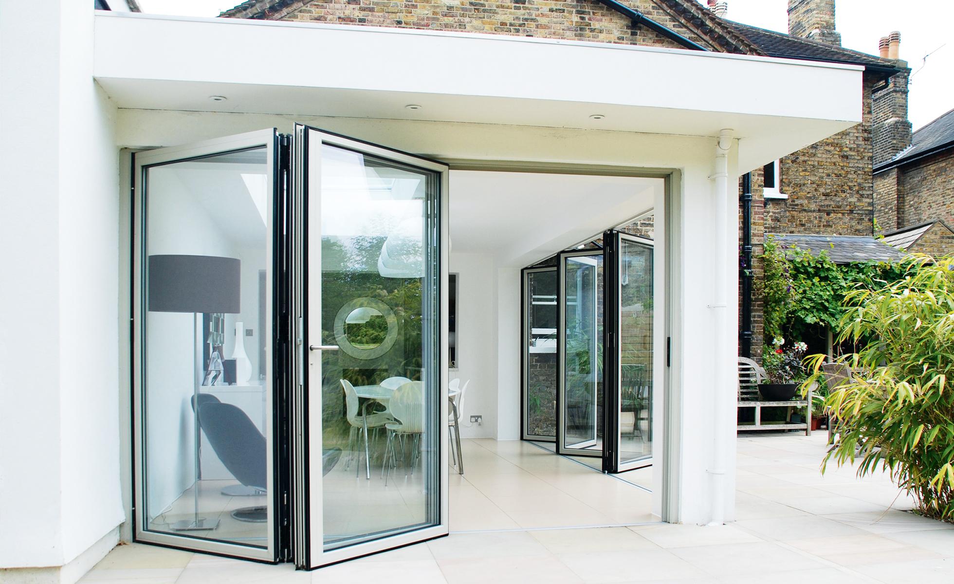 Aluminium External Folding Doors Sliding Concertina Patio