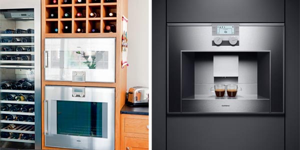 combi steam oven and espresso maker both from gaggenau