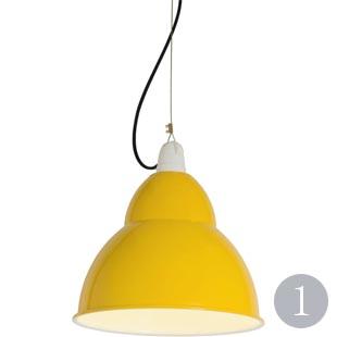 BB1 handspun aluminium pendant in yellow