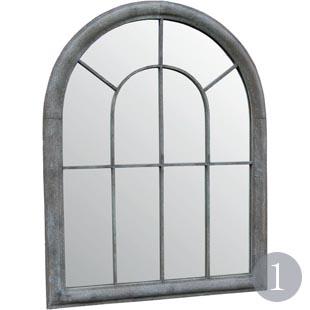 Forbury small powder-coated steel window design garden mirror