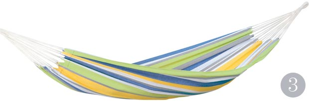Tahiti Kolibri hand-woven cotton hammock