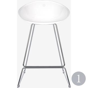 Palocco bar stool in white