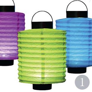 Round paper LED lanterns