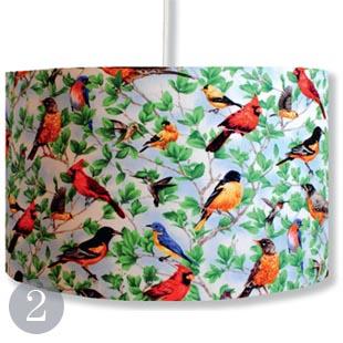 Pretty Birds cotton lampshade