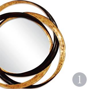Gold and black statement mirror