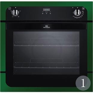 Built-in oven in green