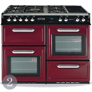 Traditional style cooker in Regency Red