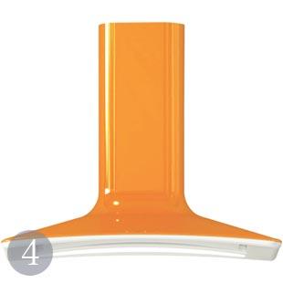 Cooker hood in orange