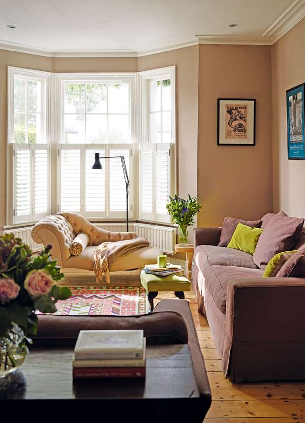 Snug living room in extended victorian home