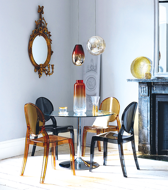 old modern furniture. image abovecreate a striking contrast by combining modern colourful furniture with more traditional ornate accessories and designs old
