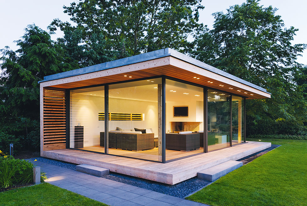 New looks for garden rooms real homes for Garden office ideas uk